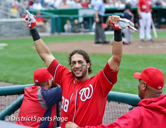 Michael Morse's Curtain Call During Last Nats Home Game 2011 (Cheryl Nichols/District Sports Page)