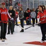 Capitals Hockey &#039;N Heels 2011 - On-Ice: Shooting with Troy Brouwer (Cheryl Nichols/District Sports Page)
