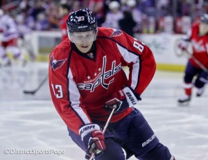 Jay Beagle during warmups at Verizon Center (Photo by Cheryl Nichols)