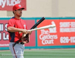 Anthony Rendon heads to dugout before game during spring training (Cheryl Nichols/District Sports Page)