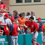 Nationals players and coaches sign autographs before game (Cheryl Nichols/District Sports Page)