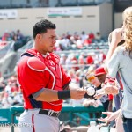 Wilson Ramos signing autographs for fans before a spring training game (Cheryl Nichols/District Sports Page)