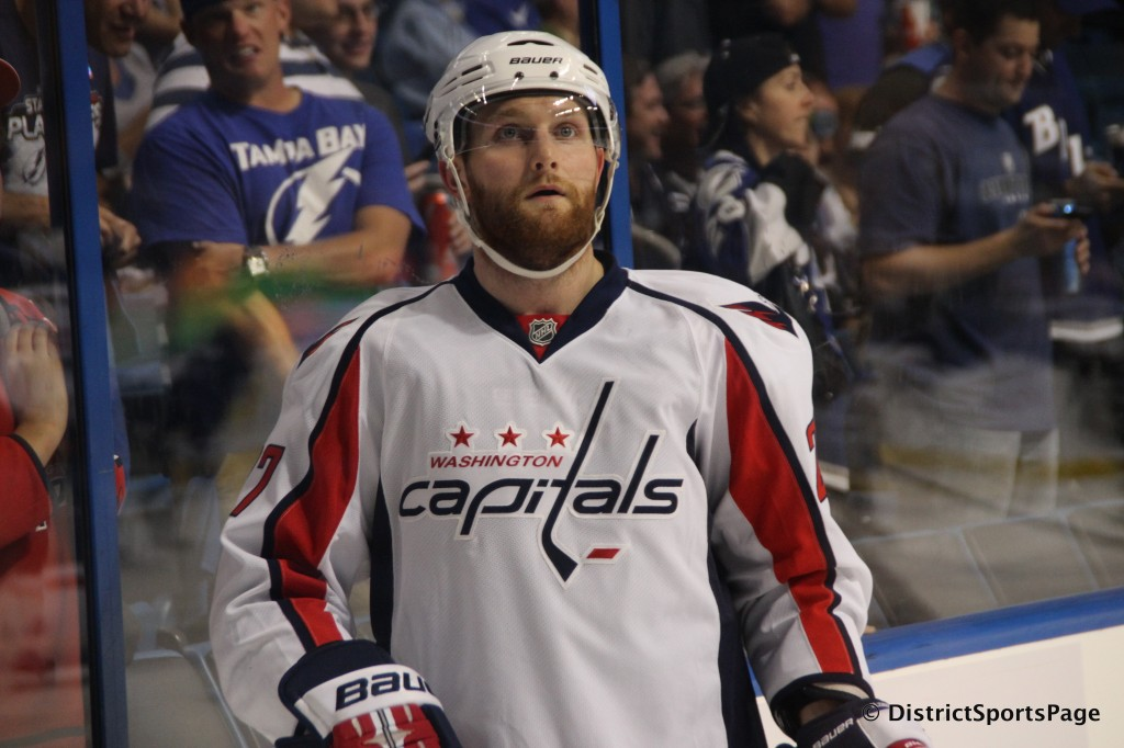 Karl Alzner's playoff beard in May 2011 (Cheryl Nichols/District Sports Page)