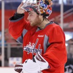 Braden Holtby -Practice April 27(Cheryl Nichols/District Sports Page)