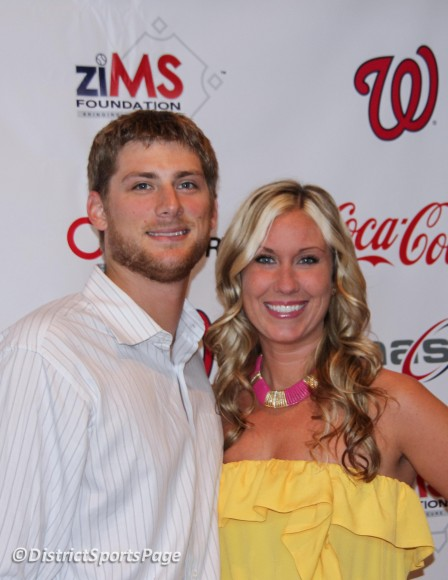 "Ross Detwiler and fiance Keri at ziMS 3rd Annual ""A Night at the Park"" at Nationals Park, June 14, 2012. (Cheryl Nichols/District Sports Page)"