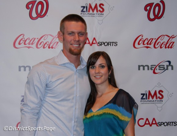 Stephen Strasburg and wife Rachel at ziMS 3rd Annual    A Night at the    Ryan Zimmerman Wife
