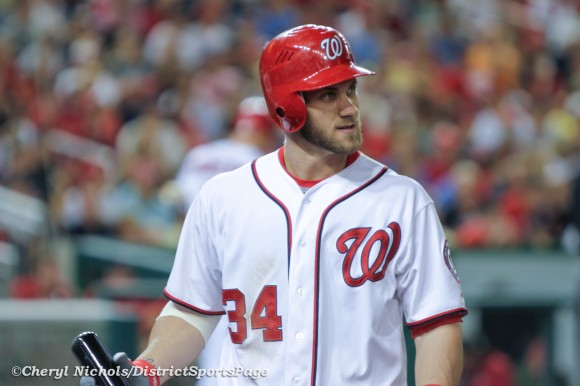 Bryce Harper, from action in Sept. 2012. (Cheryl Nichols/District Sports Page)