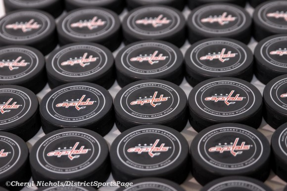 Will the Capitals finally get to use all these game pucks in 2013? (Cheryl Nichols/District Sports Page)