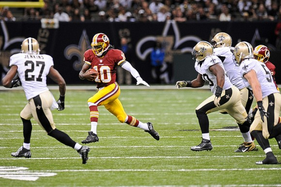 Robert Griffin III had an impressive NFL debut. (Photo by Brian Murphy)