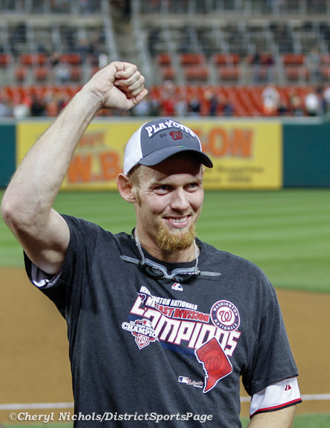 Stephen Strasburg - Philadelphia Phillies v. Washington Nationals, October 1, 2012 (Cheryl Nichols/District Sports Page)