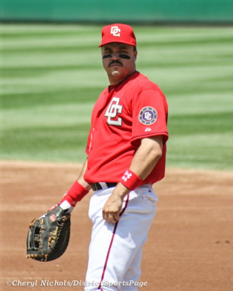 Former National 1B Nick Johnson at Nats Park, 5/4/2008 (Cheryl Nichols/District Sports Page)