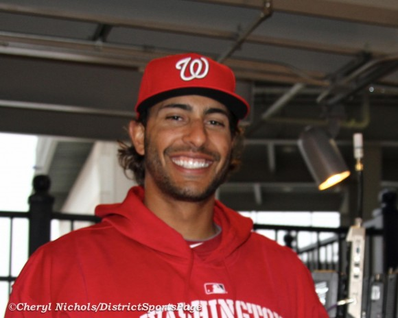 Michael Morse at NatsFest, March 2011  (Cheryl Nichols/District Sports Page)