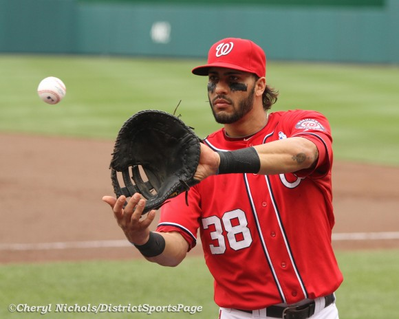 Michael Morse, 6/19/2011 (Cheryl Nichols/District Sports Page)
