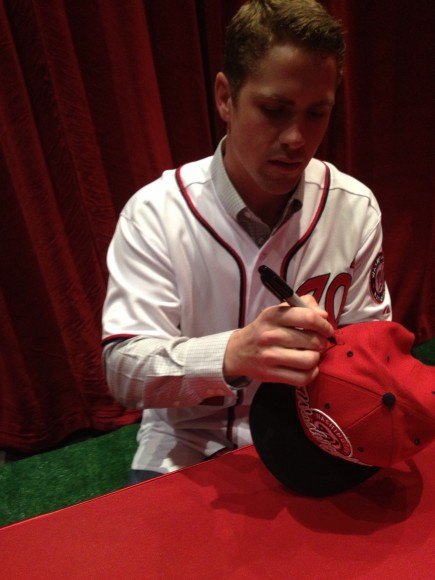 2013 NatsFest, 1/26/2013: Tyler Moore signing autographs (Photo by Lisa Milisa)