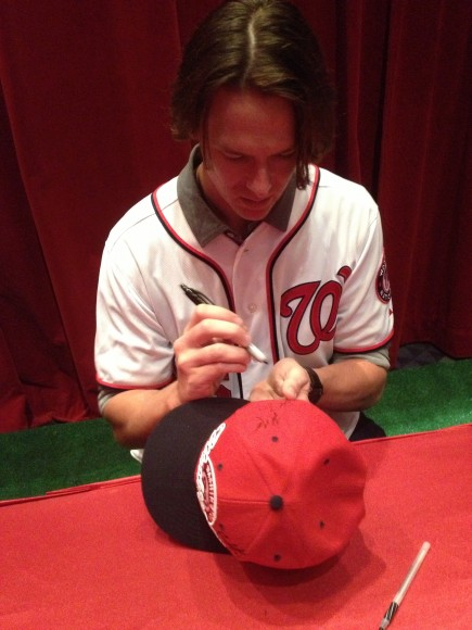 2013 NatsFest, 1/26/2013: Pitcher Tyler Clippard signing autographs (Photo by Lisa Milisa)