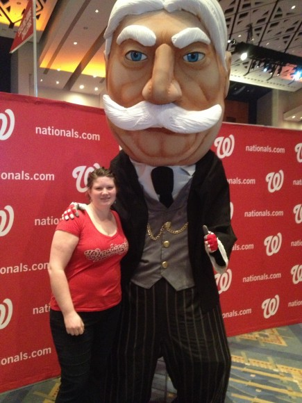 "2013 NatsFest, 1/26/2013: Nationals introduced the 5th racing President - #27 William ""Bill"" Taft (Photo by Lisa Milisa)"
