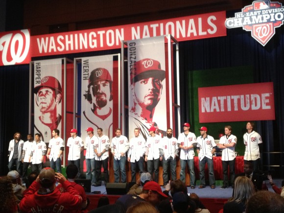 2013 NatsFest, 1/26/2013: 2013 Washington Nationals on stage (Photo by Lisa Milisa)