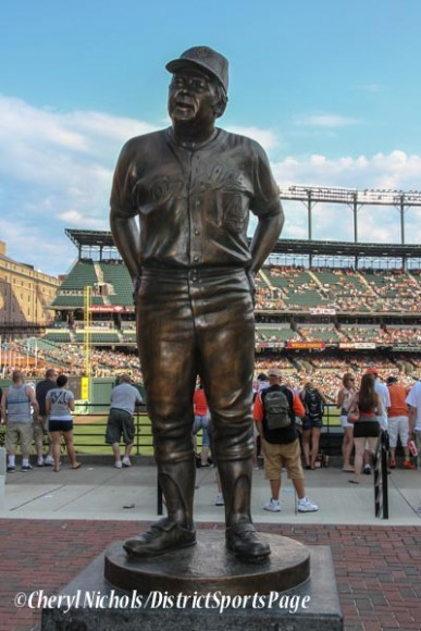 Earl Weaver statue unveiled at Camden Yards, 6/30/2012 (Cheryl Nichols/District Sports Page)