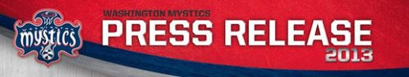 Washington Mystics Press Release Logo 2013