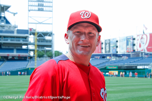 Washington Nationals Hitting Coach Rick Eckstein during photo day on field before game v. Colorado Rockies, July 7, 2012 (Cheryl Nichols/District Sports Page)