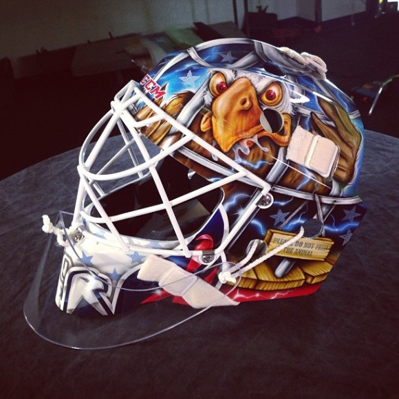 Braden Holtby's New Goalie Mask (Photo Credit: Washington Capitals Facebook Page)