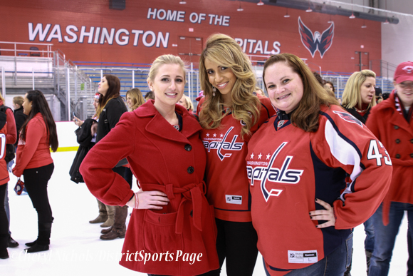 Attendees including Miss Washington DC (middle) - Washington Capitals Hockey 'N Heels, 11/13/2013 (Cheryl Nichols/District Sports Page)