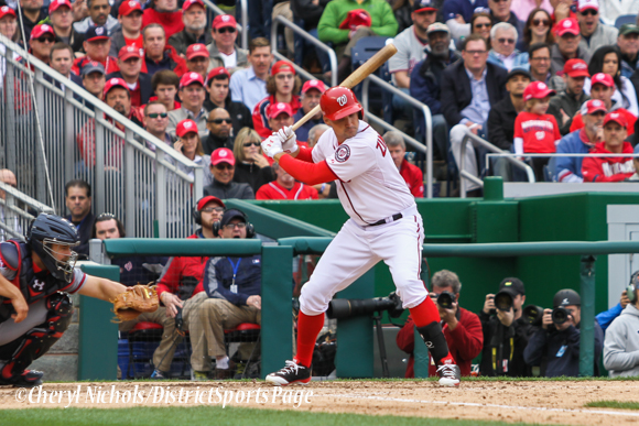 Ryan Zimmerman at bat - Washington Nationals Home Opener v. Atlanta Braves, 4/4/2014