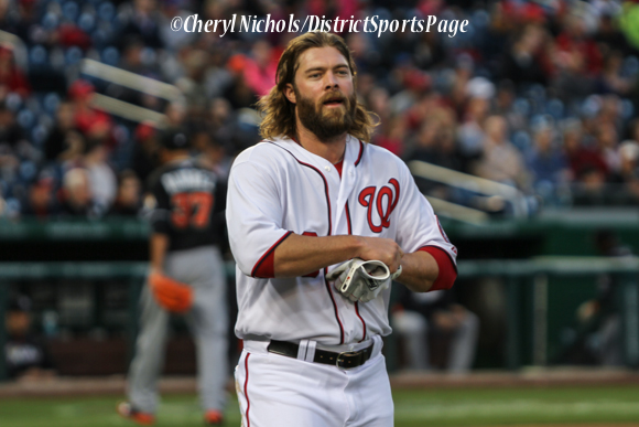 Jayson Werth - Miami Marlins v. Washington Nationals, 4/8/2014 (Cheryl Nichols/District Sports Page)