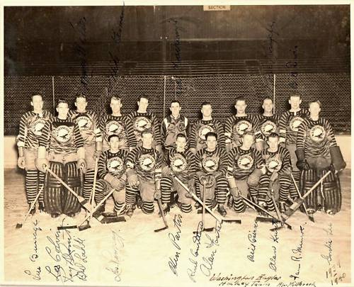 The 1941-42 Washington Eagles. Image courtesy of http://icehockey.wikia.com/.