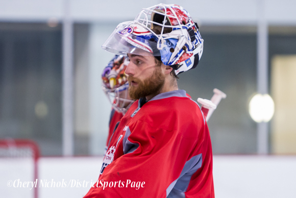 Braden Holtby Washington Capitals Practice, 10/07/2014 (Photo by Cheryl Nichols/District Sports Page)