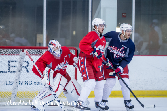 Washington Capitals Practice, 10/07/2014 (Photo by Cheryl Nichols/District Sports Page)