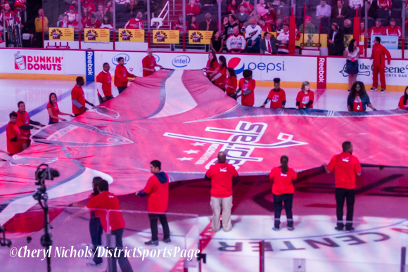 Washington Capitals home opener against Montreal featuring 40th Anniversary cermony, 10/09/2014 (Photo by Cheryl Nichols/District Sports Page)