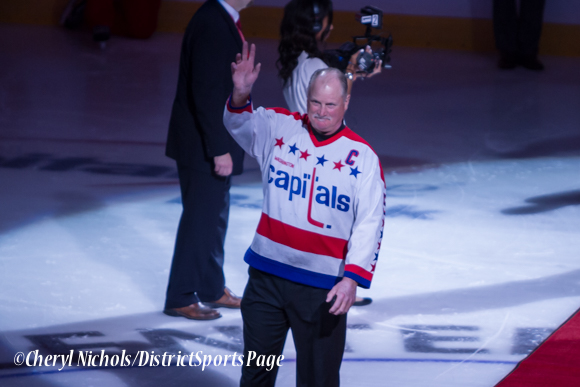 Former Caps Captain Rod Langway - Washington Capitals home opener against Montreal featuring 40th Anniversary cermony, 10/09/2014 (Photo by Cheryl Nichols/District Sports Page)