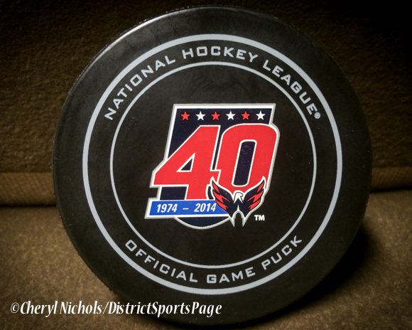 40th Anniversary Logo - Washington Capitals home opener against Montreal, 10/09/2014 (Photo by Cheryl Nichols/District Sports Page)