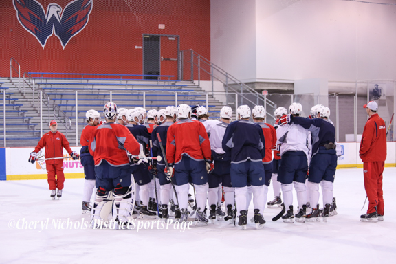Caps Game Day Practice at Kettler Iceplex before Playoff Round One, Game One,, 4/15/2015 (Photo by Cheryl Nichols/Distict Sports Page)